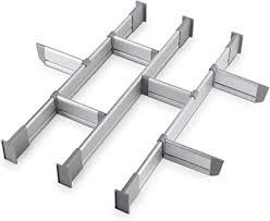 practical comfort schubladen organizer verstellbarer schubladeneinsatz aus aluminium für clutter freie küche schubladen büro klinik set aus 9