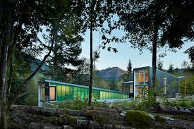 It is easy being green This modern mountain cabin is one of a