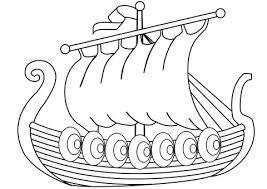 Viking Ship Coloring Page Drakkar Of Vikings Free Printable Kids Pages
