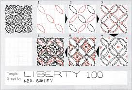 liberty 100 tangle pattern and giveaway perfectly4med