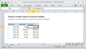 how to use the excel floor function exceljet