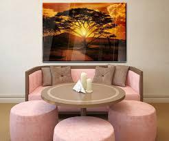 wandbild afrika sonnenuntergang wand bilder dekoration wohnung modern wanddeko groß für wohnzimmer wb0001