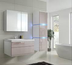badmöbel set 1 new cappuccino hochglanz weiß keramik waschbecken badezimmer led beleuchtung badezimmermöbel keramikbecken
