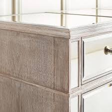 hayworth mirrored weathered oak 4 drawer chest pier 1 imports