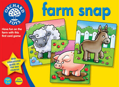 Orchard Toys Farm Snap Animal Card Game