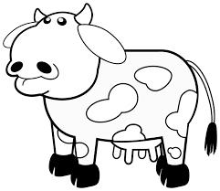 Preschool Cow Coloring Pages