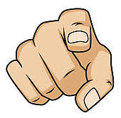 Finger Pointing Clip Art Royalty Free GoGraph