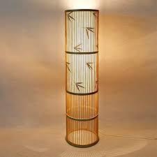 stehle japanische zen southeast asian wohnzimmer massivholz hotel inn bambus leuchte led stehleuchte 0716ldd