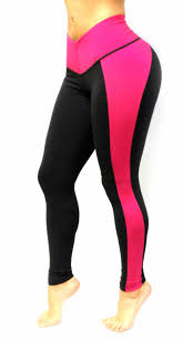 women black and pink color leggings with slim and tone control