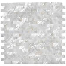 of pearl backsplash arctic oyster white pearl shell