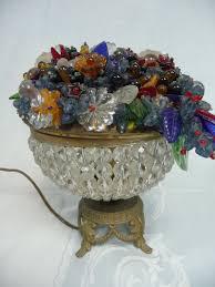 Tiffany Style Lamps Ebay Uk by Vintage Antique Large 8 1 2 Round Czech Glass Fruit Flower Basket