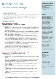 National Account Manager Resume Template