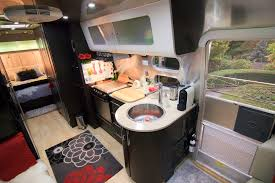 Inside An Airstream Travel Trailer Modern Interiors Decorating A