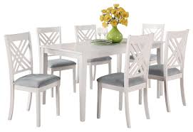 Standard Furniture Brooklyn White Rectangular Dining Table With 6 Within Design 13