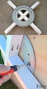 octagon rotating bookshelf her tool belt