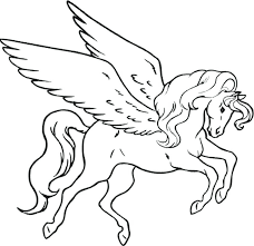 Barbie Pegasus Printable Coloring Pages Unicorn