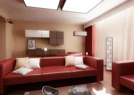 Small Apartment Living Room Interior Design Red And White Ideas