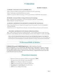 Surgical Technician Resume Medical Tech Objective Sample Surgery