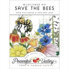 peaceful valley save the bees wildflower seed mix groworganic