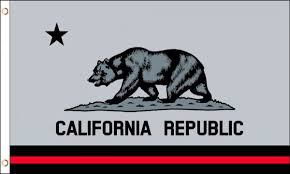 California Red Line Flag 3x5ft Poly