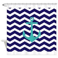 Blue Chevron Bathroom Set by Blue Anchor Chevron Shower Curtain By Admin Cp49789583 Anchor And