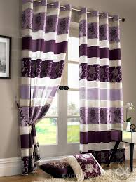 Crushed Voile Curtains Uk by Jasmine Floral Purple Eyelet Voile Curtain Purple Curtains