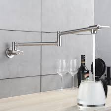 Fapuly Kitchen Tap Wall Mounted Pot Filler Faucet Double Joint