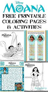 Get Excited For Disneys MOANA With These Free Printable Coloring Pages And Fun Activities