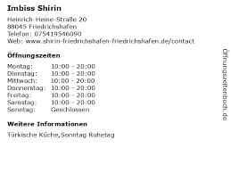 ᐅ öffnungszeiten imbiss shirin heinrich heine straße 20