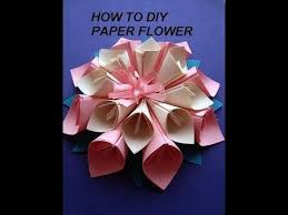 PAPER FLOWER KANZASHI How To Diy Paper Crafts Wall Decor Art Wedding