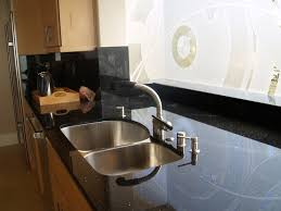 Inspirational Astounding Black Galaxy Granite Countertop Design With Kitchen Faucets For Countertops