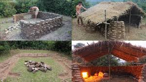 100 Fieldstone Houses Primitive Technology Build A Stone House Full Video