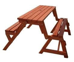 diy folding bench to picnic table 874