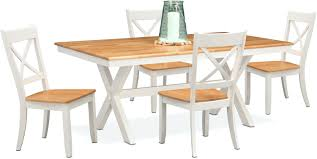 Maple Chairs Dining Room Furniture Trestle Table And 4 Side White For Sale