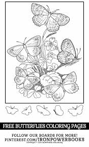 FREE Printable Butterfly Coloring Page For Kids