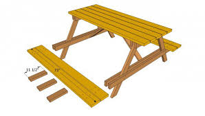picnic table plans free myoutdoorplans free woodworking plans