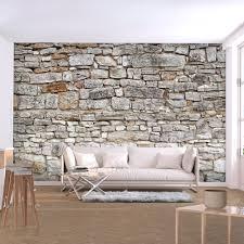 stein vlies fototapete tapeten wanddeko wohnzimmer