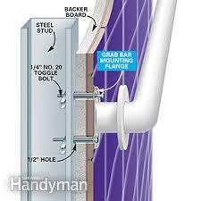 shower bar how to install bathroom grab bars family handyman