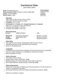 simple chronological cv for the uk joblers