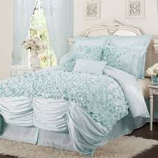 Lush Decor Belle Curtains by Lucia 4 Piece Bedding Comforter Set Walmart Com