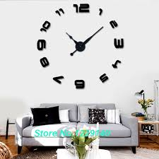 DIY 3D Wall Clock Art Decor Cool Drawing Stickers Designs Clocks Home Items Black Unique Pointers Hands In From Garden On