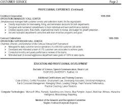Examples Of Call Center Manager Resume Combined With Director