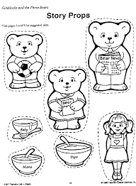 Three Bears Coloring Pages Printable Goldilocks Page Home