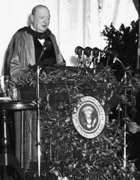 Winston Churchill Delivers Iron Curtain Speech Definition by Truthseeker24 U0027s Anti N W O Corner World War Ii 70 Years Later