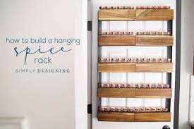 How to Build a DIY Spice Rack that can Hang on your Pantry Door