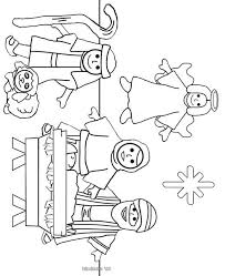 Christmas Coloring Pages For Kindergarten Students Preschool New Simpler Nativity Color