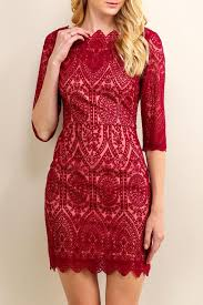 soieblu lace boat neck dress from georgia by high maintenance