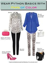 How To Wear Python Print