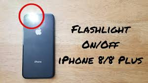 How to turn flashlight f iPhone 8 8 Plus