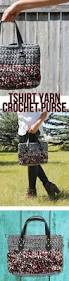 this cute handmade bag is crocheted from t shirt yarn the free